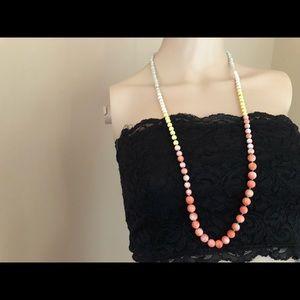Loft multicolored single strand necklace